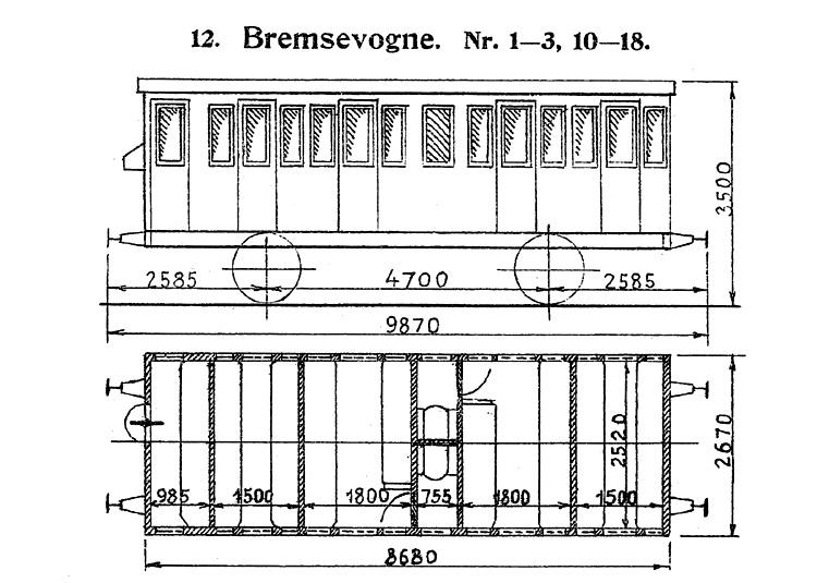DSB Bremsevogn nr. 14