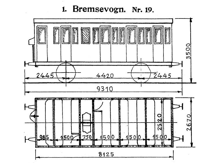DSB Bremsevogn nr. 19