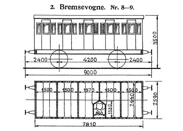DSB Bremsevogn nr. 8