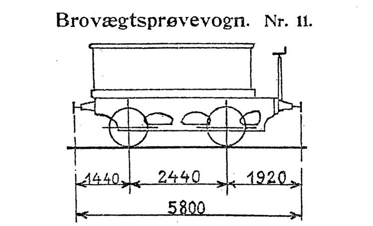 DSB Brovægtsprøvevogn nr. 11