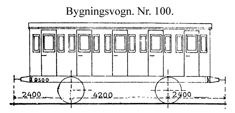 DSB Bygningsvogn nr. 100