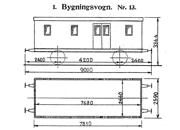 DSB Bygningsvogn nr. 13