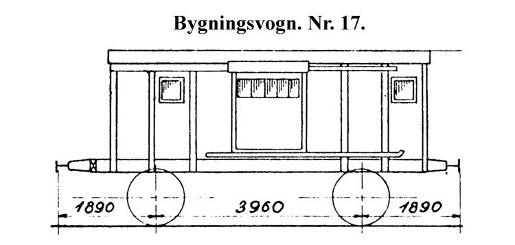 DSB Bygningsvogn nr. 17