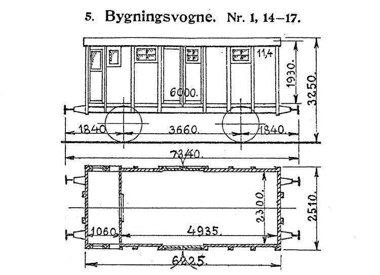 DSB Bygningsvogn nr. 1