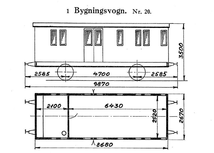 DSB Bygningsvogn nr. 20