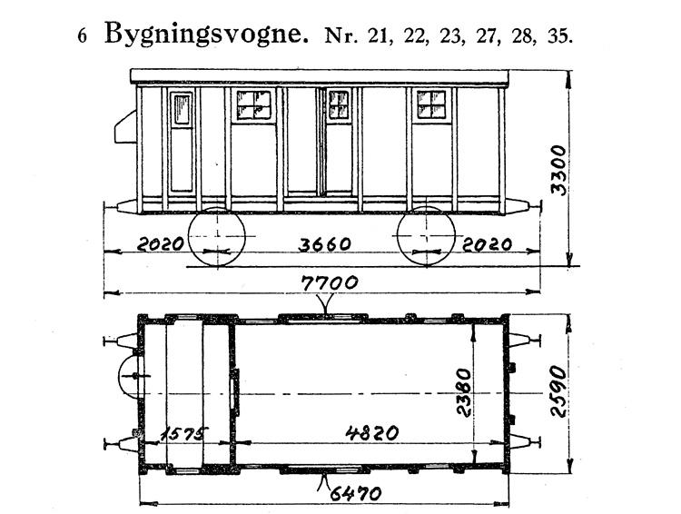 DSB Bygningsvogn nr. 22