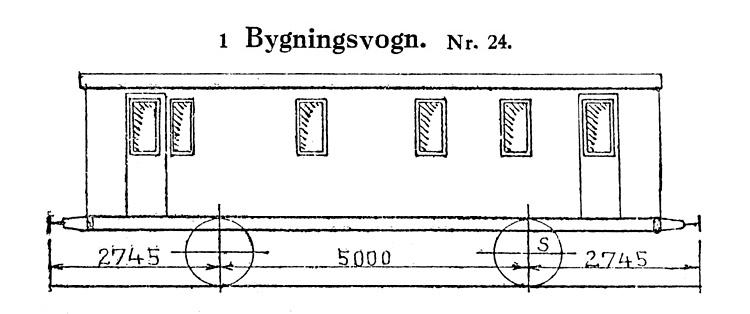 DSB Bygningsvogn nr. 24