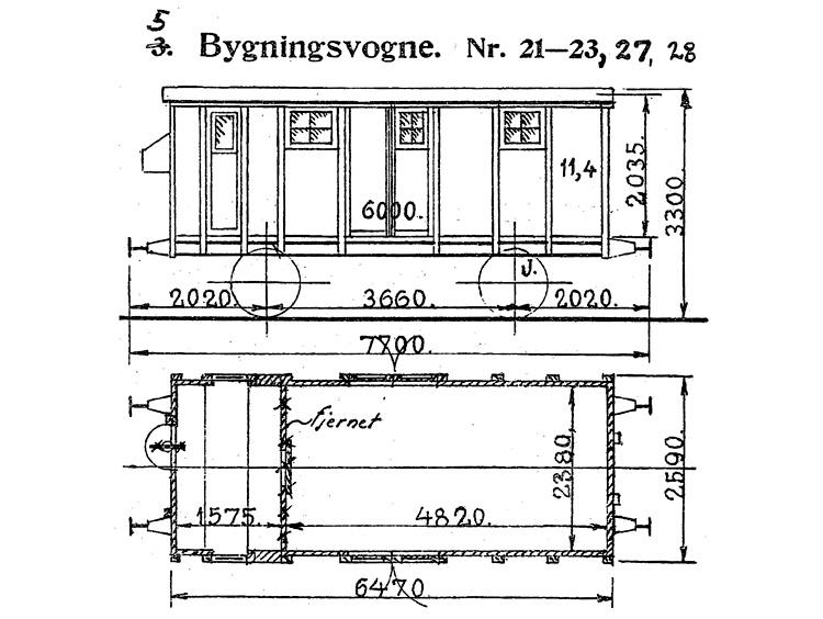 DSB Bygningsvogn nr. 27