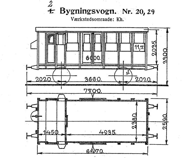 DSB Bygningsvogn nr. 29