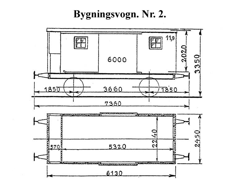 DSB Bygningsvogn nr. 2