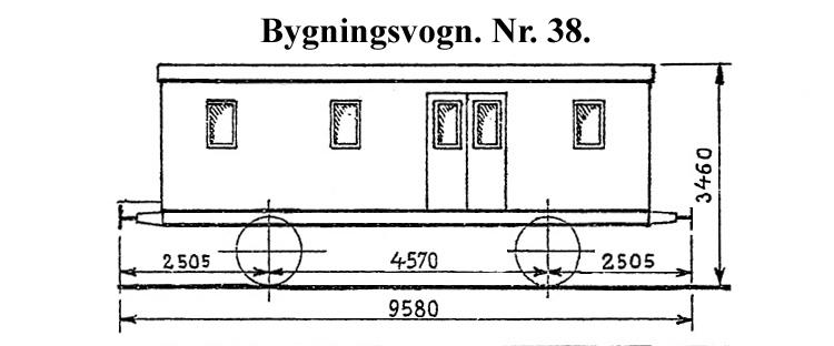 DSB Bygningsvogn nr. 38