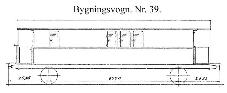 DSB Bygningsvogn nr. 39