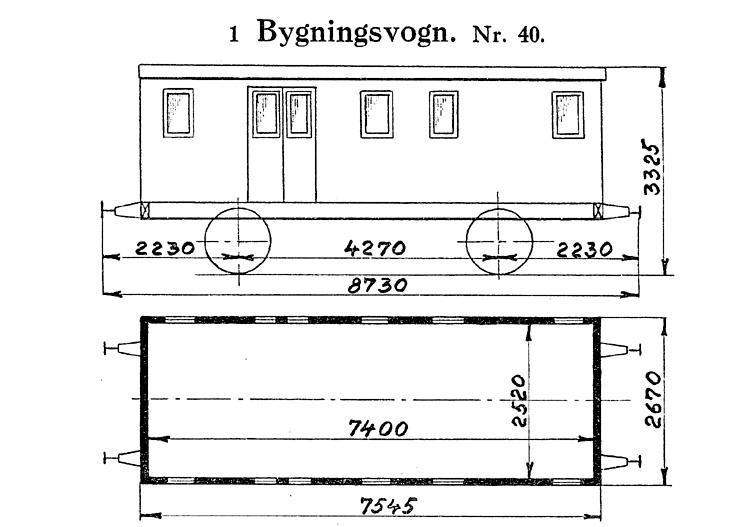 DSB Bygningsvogn nr. 40