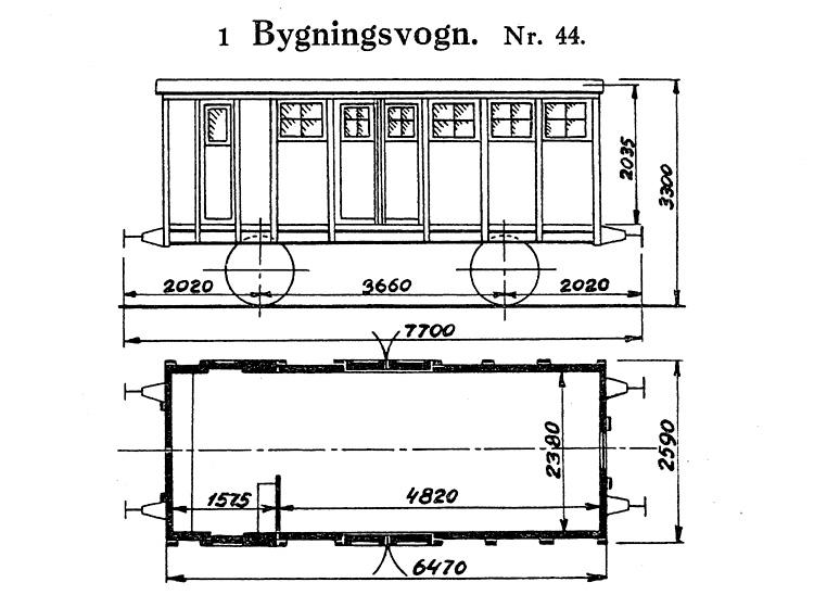 DSB Bygningsvogn nr. 44