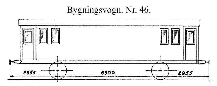 DSB Bygningsvogn nr. 46