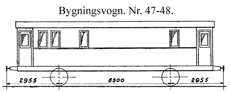 DSB Bygningsvogn nr. 47
