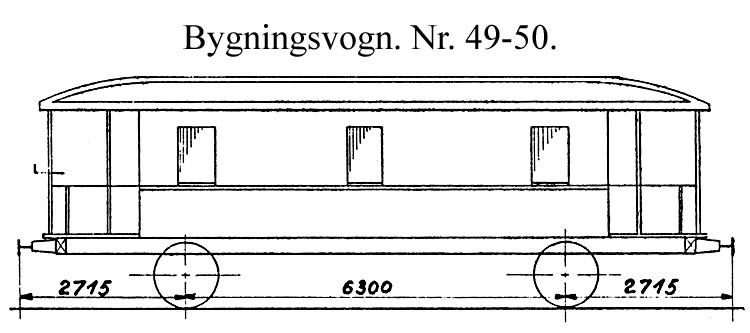 DSB Bygningsvogn nr. 50