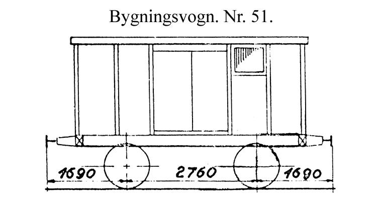 DSB Bygningsvogn nr. 51