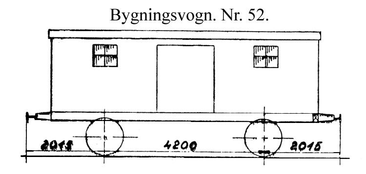 DSB Bygningsvogn nr. 52