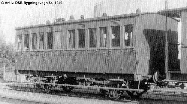 DSB Bygningsvogn nr. 54