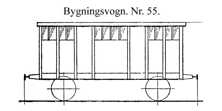 DSB Bygningsvogn nr. 55