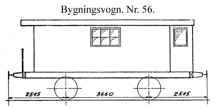 DSB Bygningsvogn nr. 56