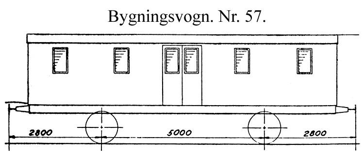 DSB Bygningsvogn nr. 57