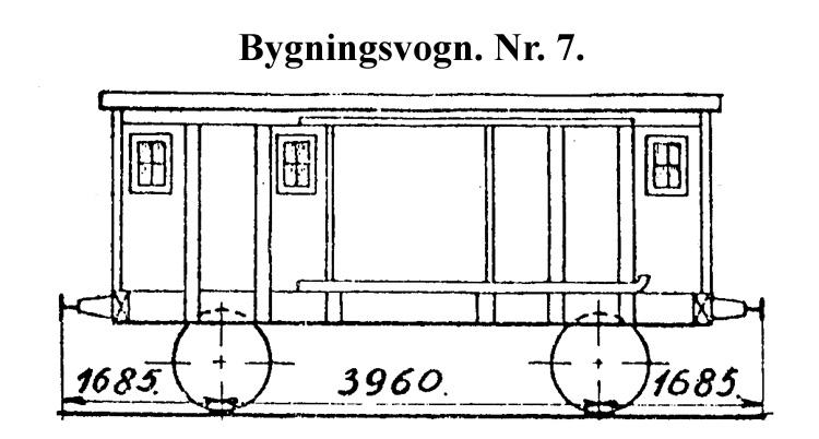 DSB Bygningsvogn nr. 7