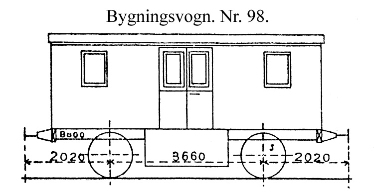 DSB Bygningsvogn nr. 98