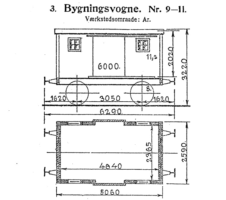DSB Bygningsvogn nr. 9