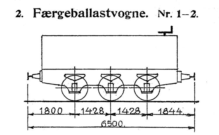 DSB Færgeballastvogn nr. 1