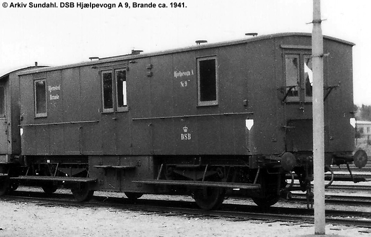 DSB Hjælpevogn A nr. 9