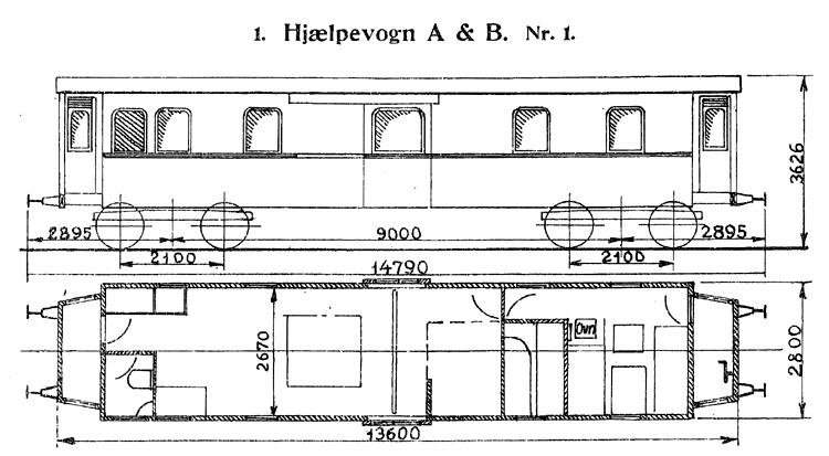 DSB Hjælpevogn A & B nr. 1