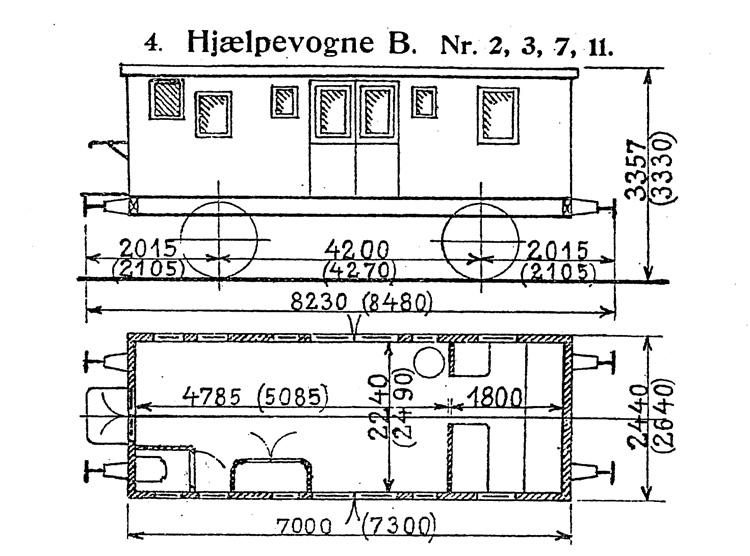 DSB Hjælpevogn B nr. 11