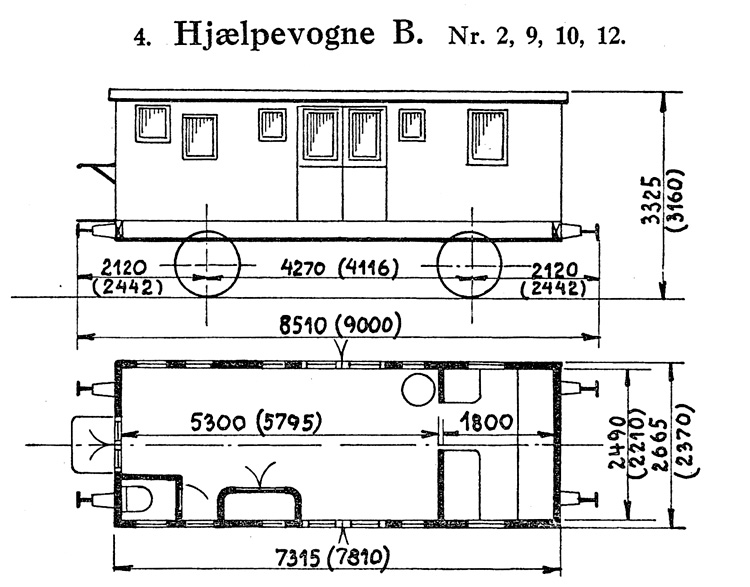 DSB Hjælpevogn B nr. 12