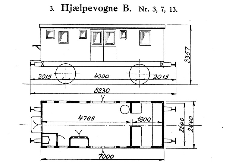 DSB Hjælpevogn B nr. 3