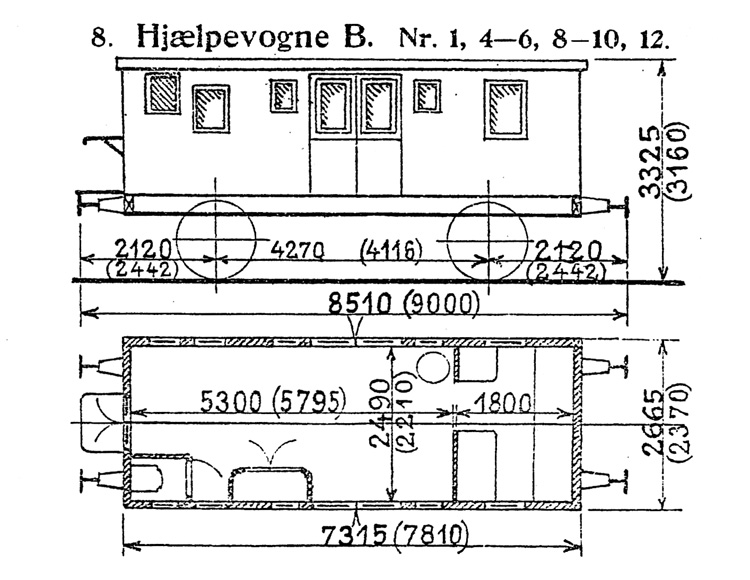 DSB Hjælpevogn B nr. 9