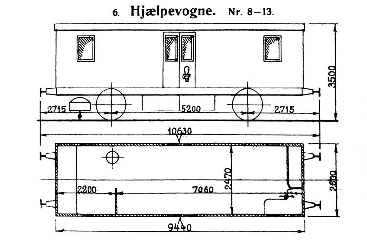 DSB Hjælpevogn nr. 13