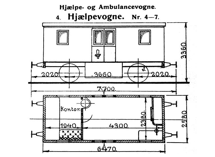 DSB Hjælpevogn nr. 7