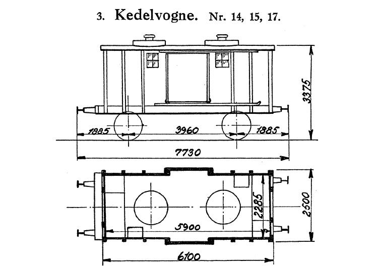DSB Kedelvogn nr. 15