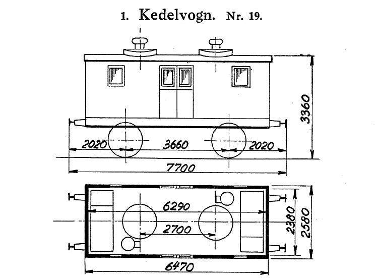 DSB Kedelvogn nr. 19