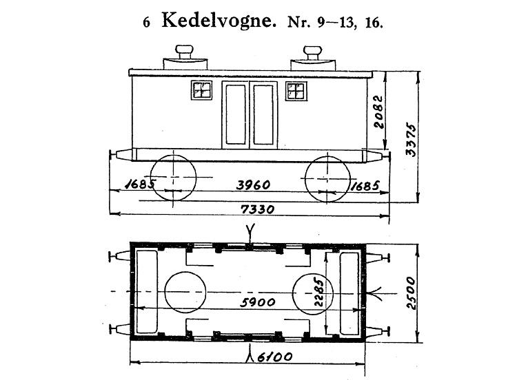 DSB Kedelvogn nr. 9