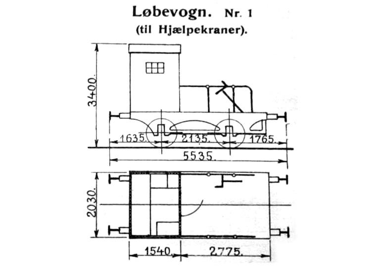 DSB Løbevogn for Hjælpekraner nr. 1