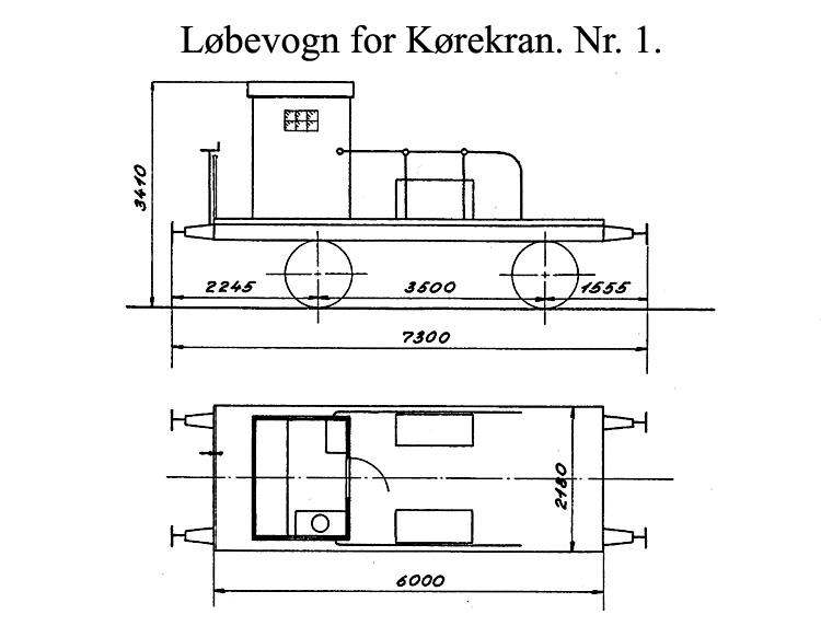 DSB Løbevogn for Kørekran nr. 1