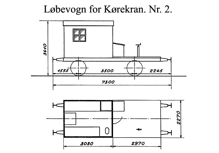 DSB Løbevogn for Kørekran nr. 2