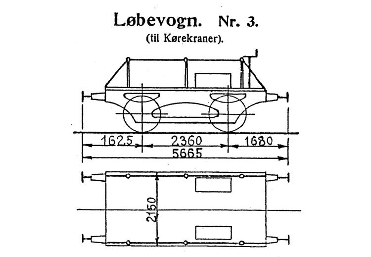 DSB Løbevogn for Kørekran nr. 3