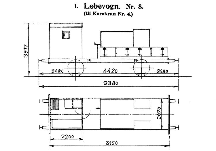 DSB Løbevogn for Kørekran nr. 8