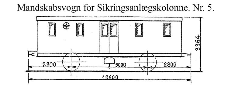 DSB Mandskabsvogn for Sikringsanlægskolonne nr. 5