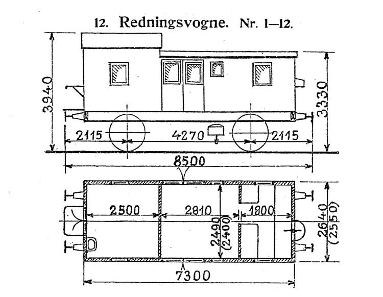 DSB Redningsvogn nr. 6