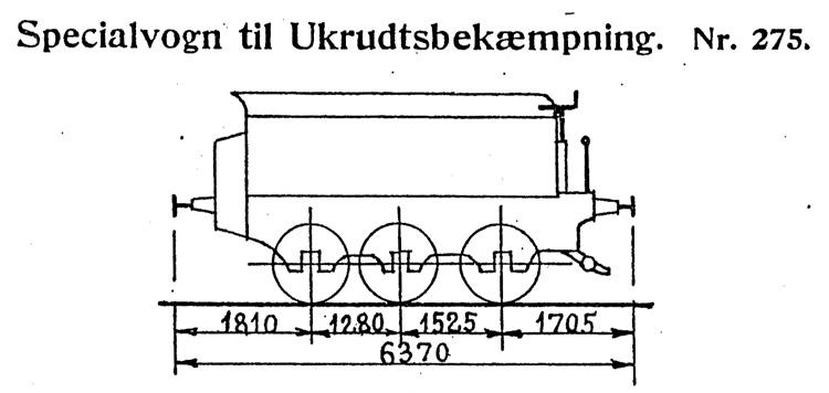 DSB Specialvogn til Ukrudtsbekæmpning nr. 275